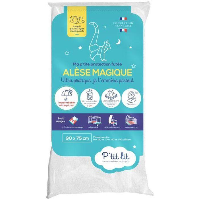P'tit lit - Alèse Bébé Imperméable Ultra Absorbante - Protège Matelas Respirant et Silencieux - Lavable à 90°C - Pour tout type de