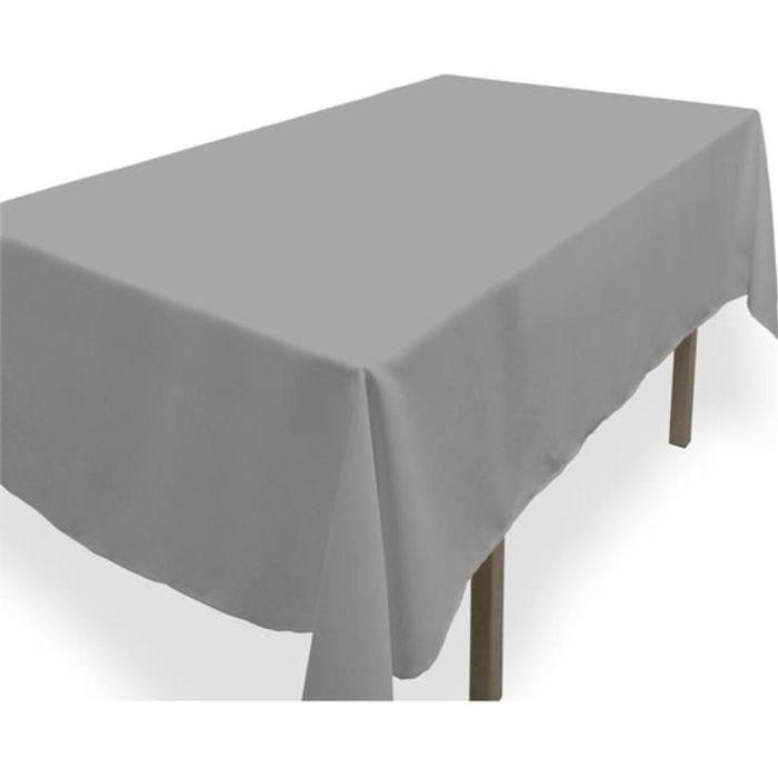 Nappe anti-tâches rectangle 140x240 cm ALIX grise