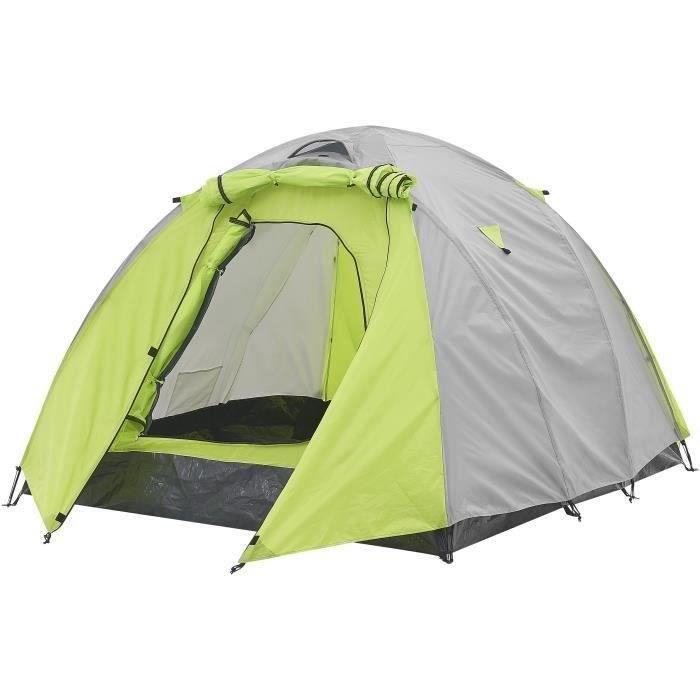 SURPASS - Tente de camping - 3 personnes - Vert & Gris