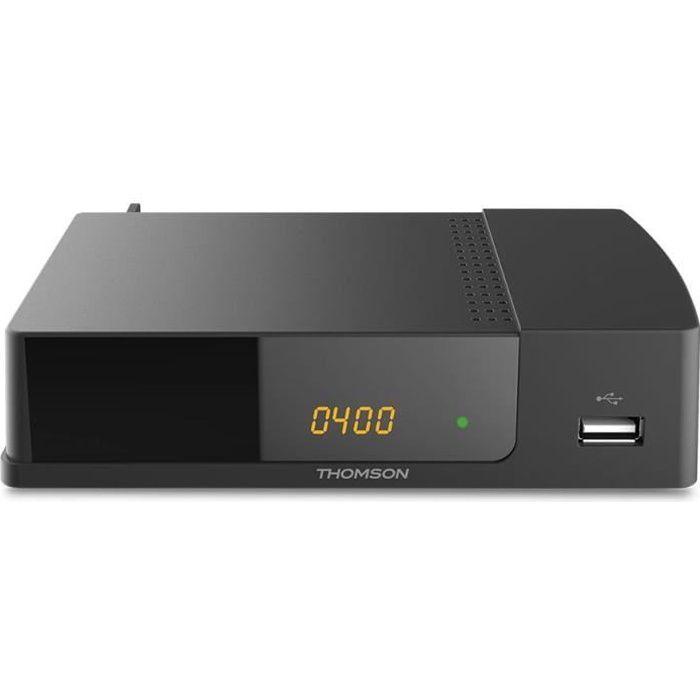 THOMSON THT 709 Décodeur TNT Full HD -DVB-T2 - Compatible HEVC265 - Récepteur/Tuner TV avec fonction enregistreur (HDMI, Péritel, US