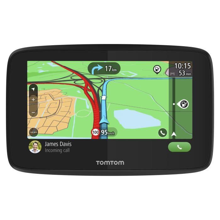 TomTom GO Essential 5'' - GPS auto 5 pouces, cartographie Europe 49, Wi-Fi intégré, appels mains-libres