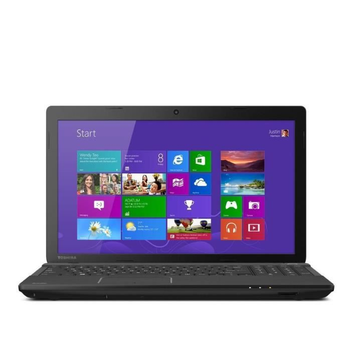 PC portable TOSHIBA SATELLITE C55D 15,6'' - AMD A6-500 - RAM 4Go - Stockage 240Go SSD - Windows 10 + Disque dur externe 1000GO