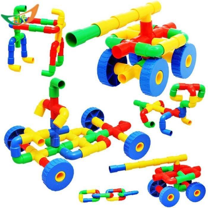 1 Sac Bloc de Construction Tuyau en Plastique Jouet d'Apprentissage Cadeau Pour Enfant Bébé