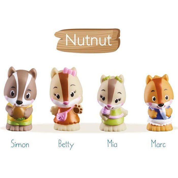 KLOROFIL Lot de 4 personnages famille Nutnut