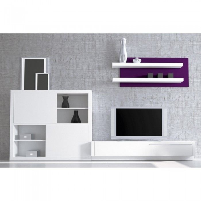 meuble mural tv white purple couleur blanche ma achat vente meuble tv meuble mural tv white. Black Bedroom Furniture Sets. Home Design Ideas
