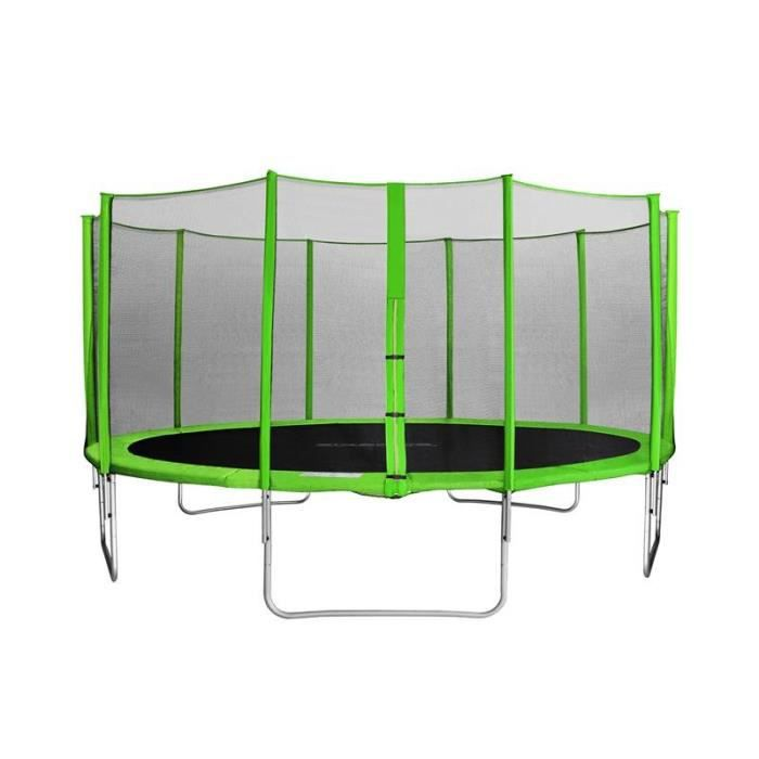 myjump 4 60 m trampoline de jardin vert myco00756 achat vente trampoline cdiscount. Black Bedroom Furniture Sets. Home Design Ideas