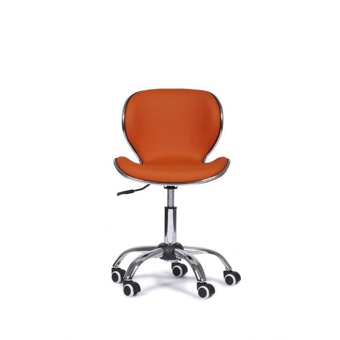 chaise fauteuil bureau fun orange design r glable achat vente chaise de bureau orange. Black Bedroom Furniture Sets. Home Design Ideas