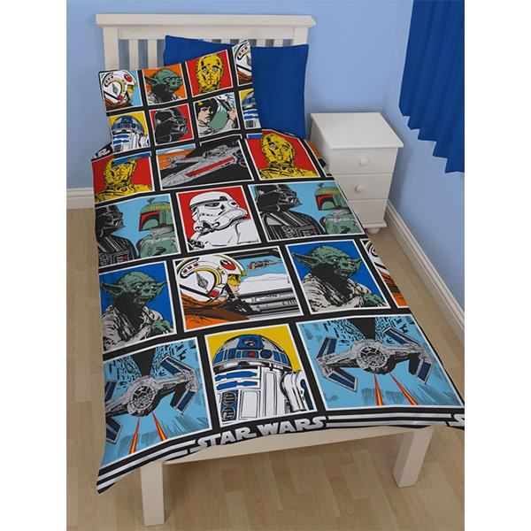 housse de couette star wars 1 personne 140x20 achat. Black Bedroom Furniture Sets. Home Design Ideas