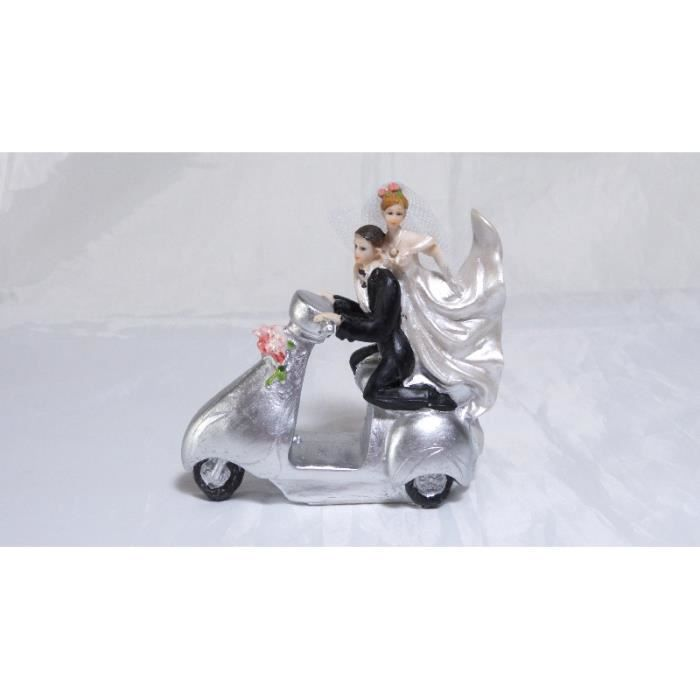 figurine pice monte mariage maris scooter - Figurine Pice Monte Mariage