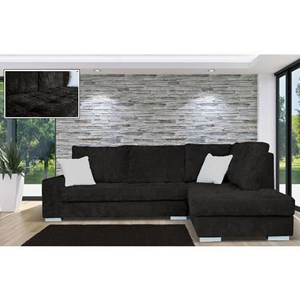 canap d 39 angle fixe droite en velours color achat vente canap sofa divan velours. Black Bedroom Furniture Sets. Home Design Ideas