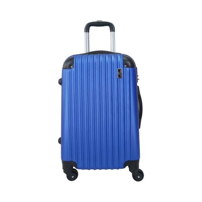 valise trolley taille cabine 4 roues 50cm bleu achat vente valise bagage 6000006008301. Black Bedroom Furniture Sets. Home Design Ideas