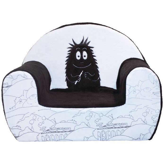 barbapapa fauteuil barbouille d s 12 mois blanc achat vente fauteuil canap b b. Black Bedroom Furniture Sets. Home Design Ideas