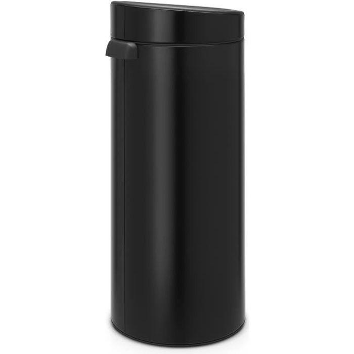 POUBELLE - CORBEILLE BRABANTIA Poubelle Touch Bin - 30L - Noir mat