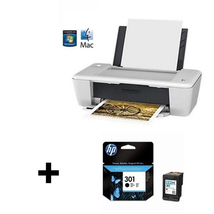 imprimante hp deskjet 1010 cartouche noire hp 301 prix pas cher cdiscount. Black Bedroom Furniture Sets. Home Design Ideas