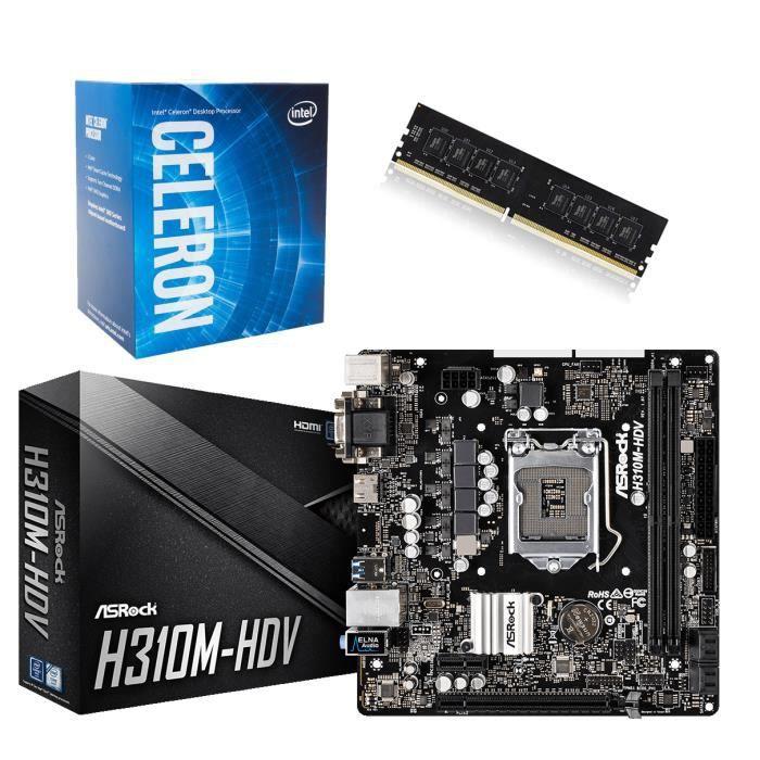 kit carte mere processeur Kit carte mère + processeur Intel + 4 Go ddr 4   Prix pas cher
