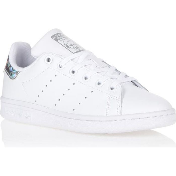 BASKET MULTISPORT ADIDAS Basket Stan Smith Junior - Blanc et métaliq