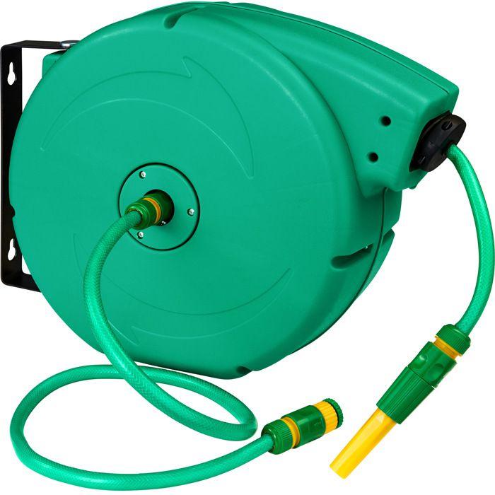 Haute qualité 15M compact tuyau de jardin bobine set avec raccord extérieur arrosage