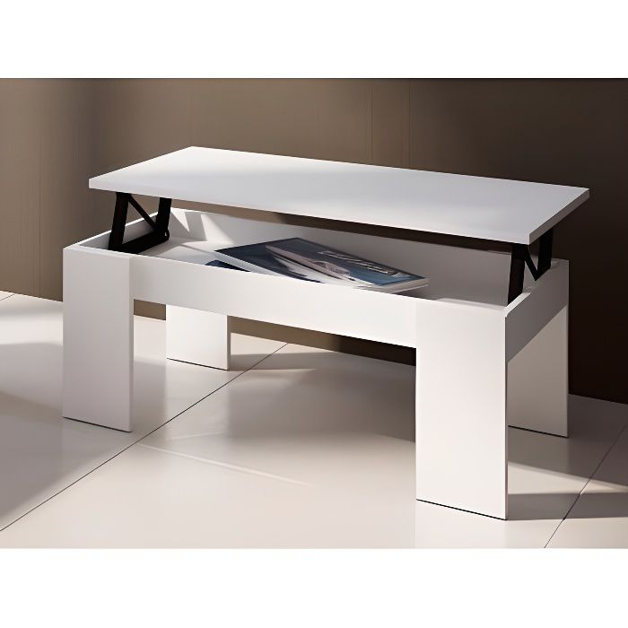 table basse carmela plateau relevable bois m achat. Black Bedroom Furniture Sets. Home Design Ideas