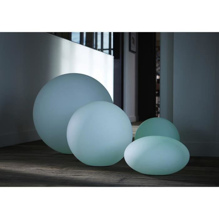 boule lumineuse ronde 40 cm lampe de jardin design achat vente statue statuette boule. Black Bedroom Furniture Sets. Home Design Ideas