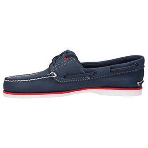 chaussure bateau hommes timberland bleu