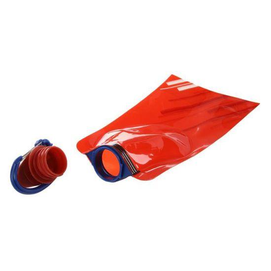 Un pliable glace d/'Eau Boisson Sport Running Bouteille Camping Kit Gear Re Utilisable Rouge