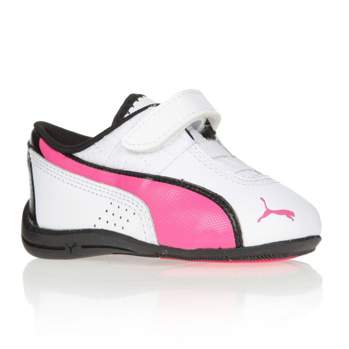 puma baskets drift cat chaussures enfant fille blanc et rose achat vente basket cdiscount. Black Bedroom Furniture Sets. Home Design Ideas