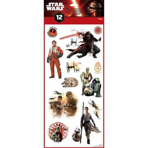 STICKERS Star Wars Planche de 12 stickers repositionnables