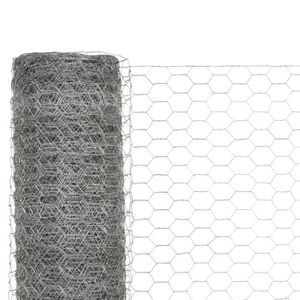 CLÔTURE - GRILLAGE Grillage en Acier Galvanisé avec Mailles Hexagonal
