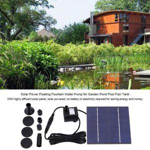 FONTAINE DE JARDIN Énergie solaire Forme flottante de feuilles de lot