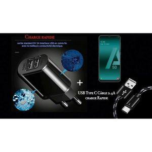 CHARGEUR TÉLÉPHONE Chargeur OI avec cable noir Samsung Galaxy A50