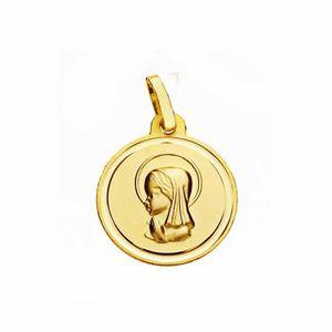 PENDENTIF VENDU SEUL Médaille pendentif vierge en or 18 carats nina 16