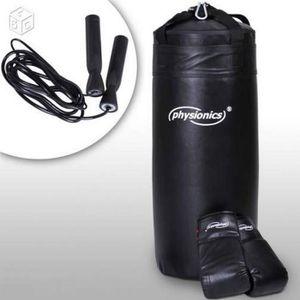 ACCESSOIRE RING - CAGE Kit Sac de boxe frappe avec gants et corde à saute