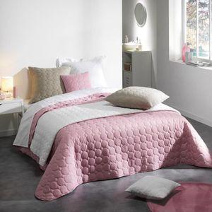 JETÉE DE LIT - BOUTIS Couvre-lit matelassé 220x240 cm Candy Rose dragée