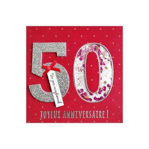 Carte Anniversaire 50 Ans Achat Vente Pas Cher