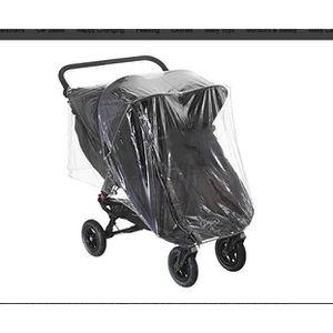PVC poussette Raincover for Baby Jogger Citi Mini Double Poussettes épais