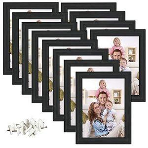 CADRE PHOTO Giftgarden Cadre Photo Noir 13x18 cm Cadres en Boi