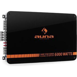AMPLIFICATEUR AUTO auna Dark Star 6000 - Ampli auto 6 canaux 600W RMS