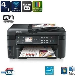 IMPRIMANTE Imprimante Epson multifonction 4en1 WorkForce WF-3