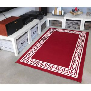 TAPIS Tapis salon MOTIF GREC rouge DEBONSOL - 120x170cm