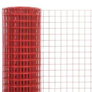 CLÔTURE - GRILLAGE Nishore Grillage en Acier et Revêtement en PVC Gri