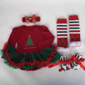 Ensemble de vêtements Nouveau-né de Noël infantile robe de bébé Romper T