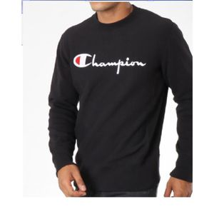 SWEATSHIRT CHAMPION - SWEAT CREWNECK 211197 NOIR COL ROND 201 edf53c7b6164