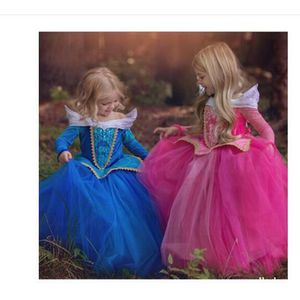 ROBE  Robe de filles Halloween Cosplay belle au bois do