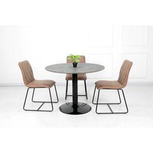 TABLE À MANGER SEULE Table ronde avec pied central JOSUA. Magnifique de