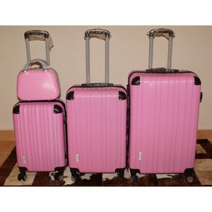 SET DE VALISES Set 3 valises + vanity 8 roues pivotant ROSE