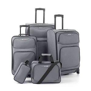 SET DE VALISES Set 4 valises + vanity 4 roues pivotant GRIS