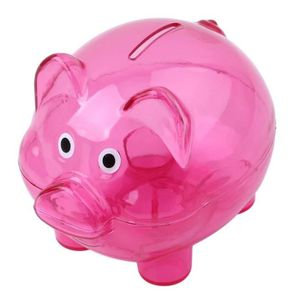 TIRELIRE Belle Tirelire Cochon Transparent Cochon Banque Bo
