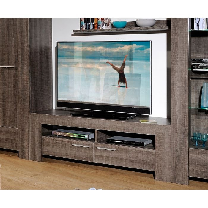 biarritz meuble tv 150 cm gris achat vente meuble tv. Black Bedroom Furniture Sets. Home Design Ideas