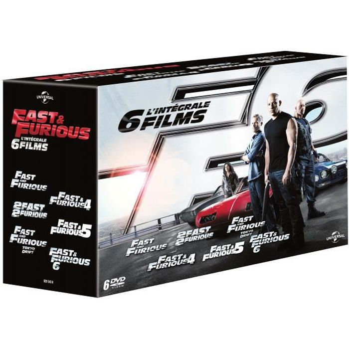DVD FILM DVD Fast and furious 1 a 6