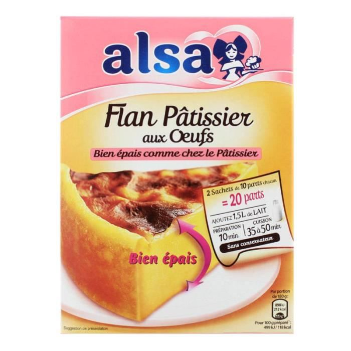 ALSA Préparation Flan pâtissier aux œufs - 2x360 g